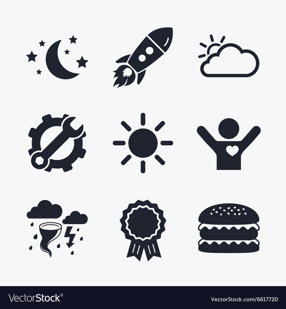 Cloud and sun icon storm symbol moon and stars vector image biocorpaavc Images
