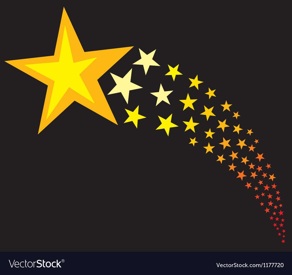 Shooting stars vector image