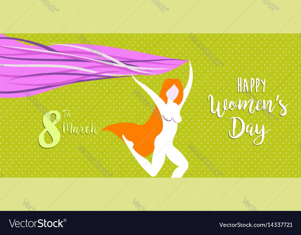 Happy international womens day celebration banner vector image