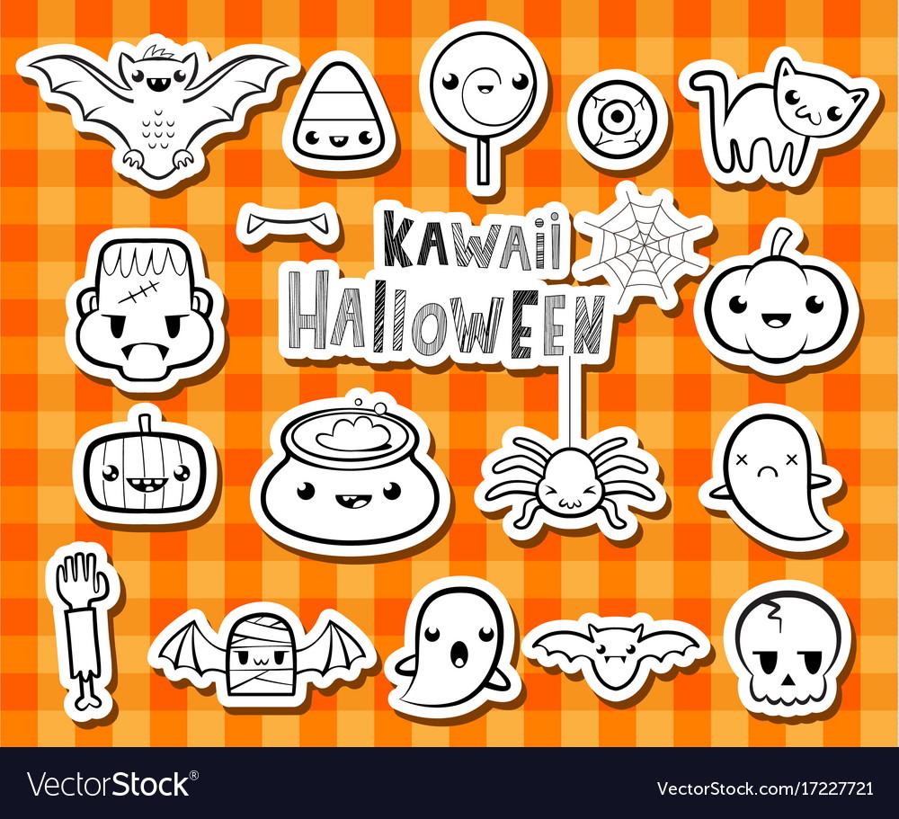 Kawaii halloween Royalty Free Vector Image - VectorStock