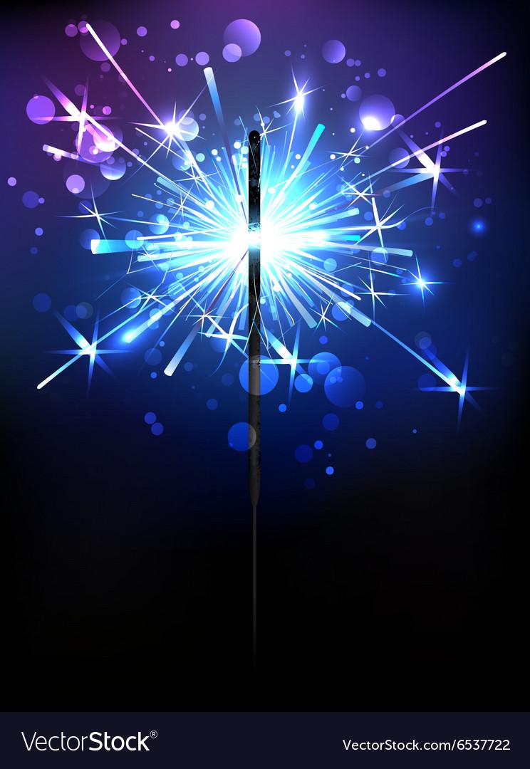 Blue Sparkler vector image