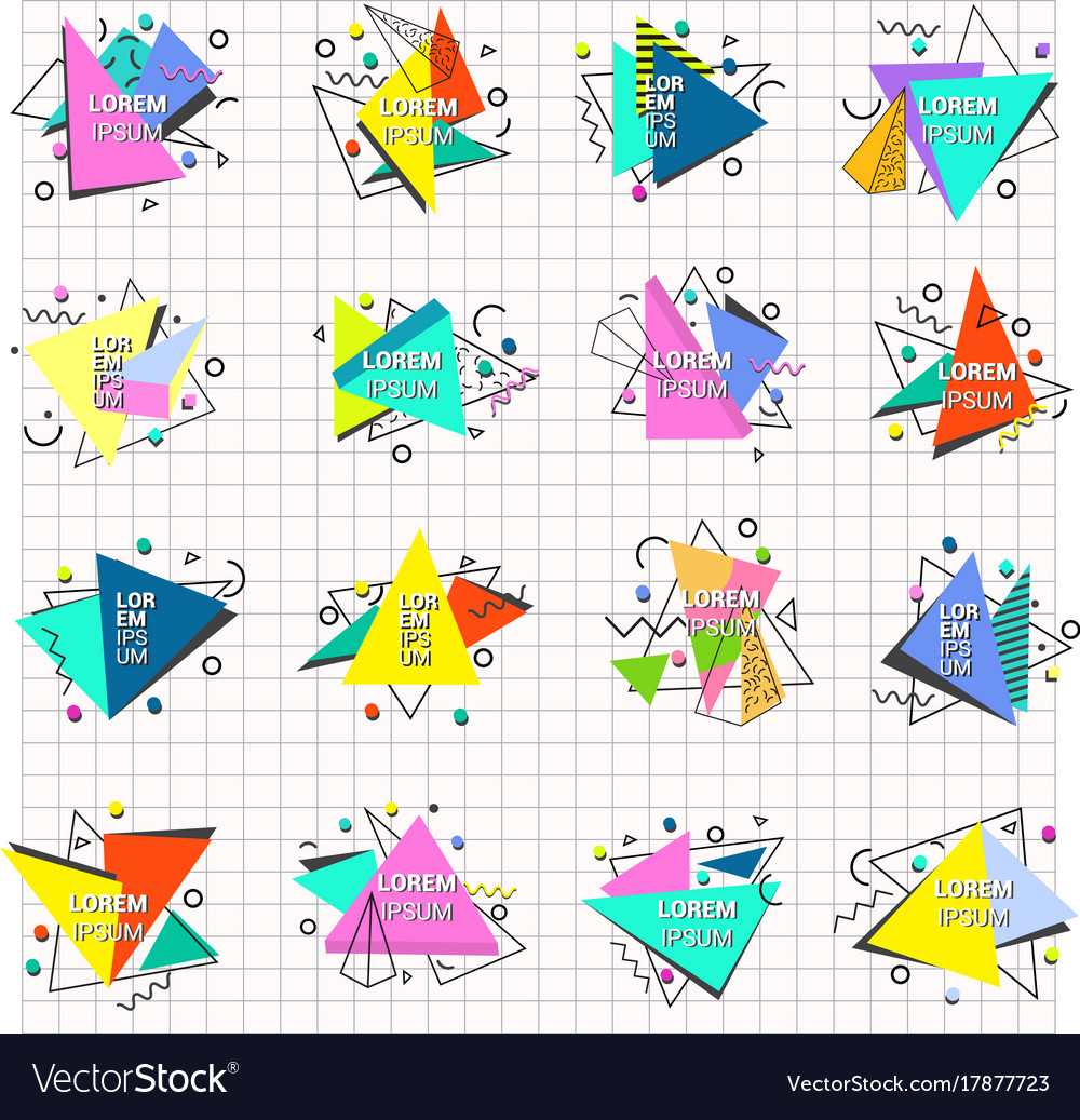 Abstract geometry triangle abstract logo badge vector image