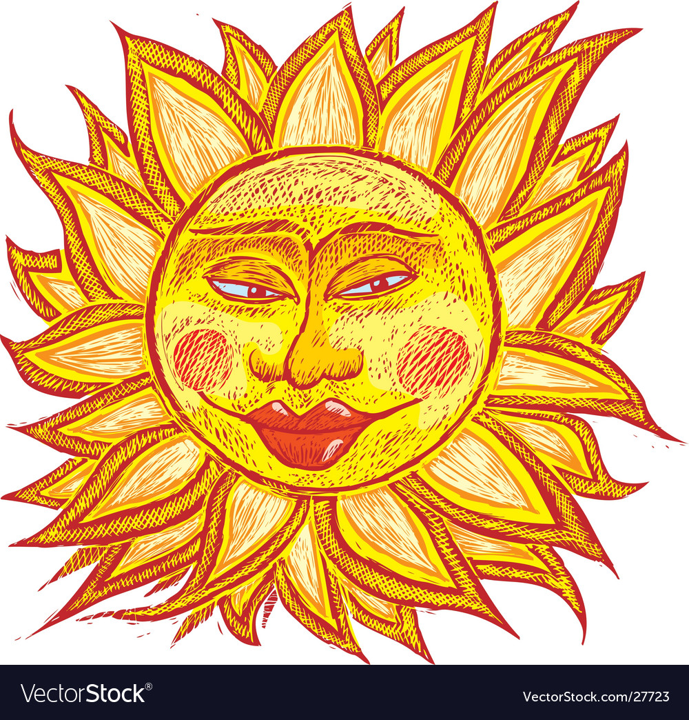 Fat old sun vector image