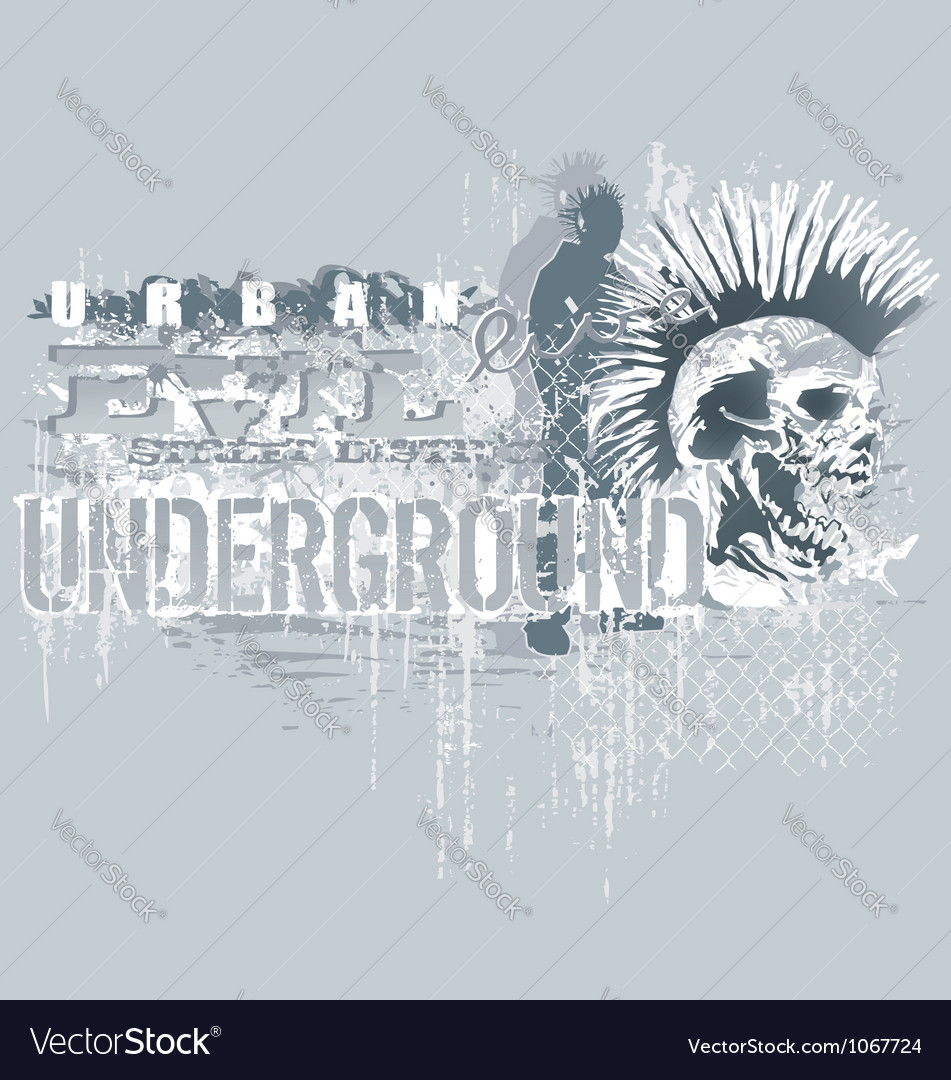Under ground Vector Image