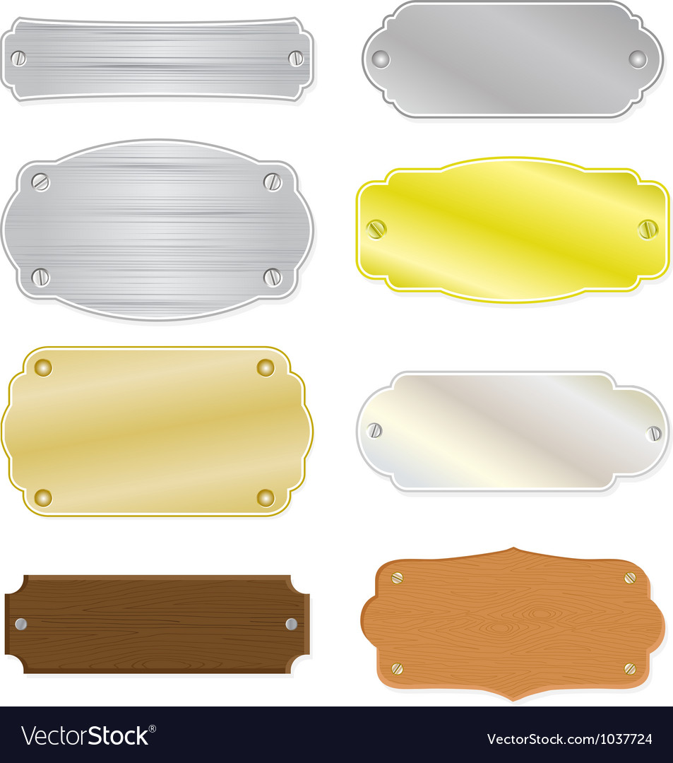 House or trophy nameplates vector image