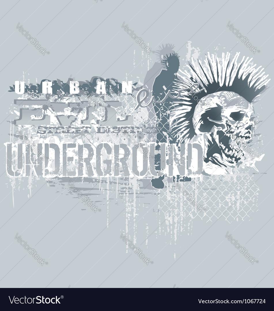 Under ground vector image