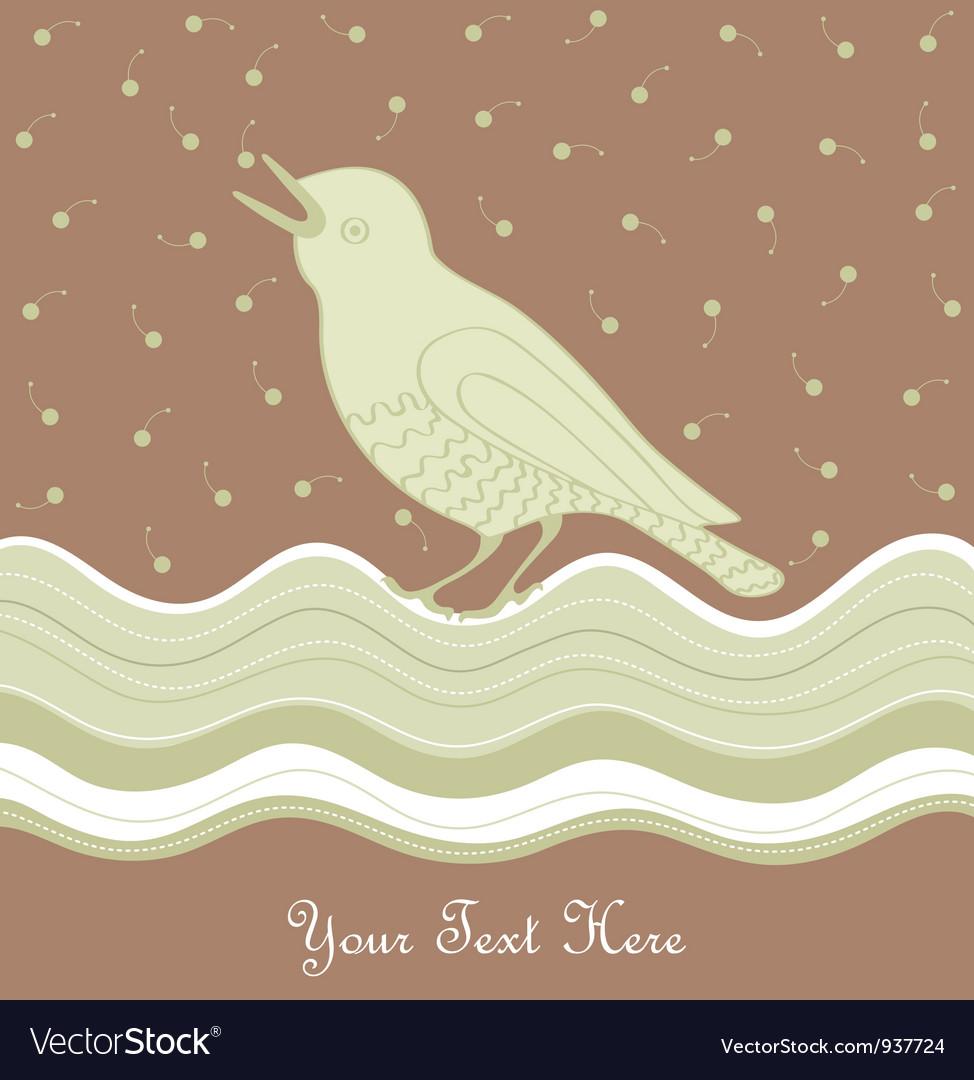 Vintage Bird Card vector image