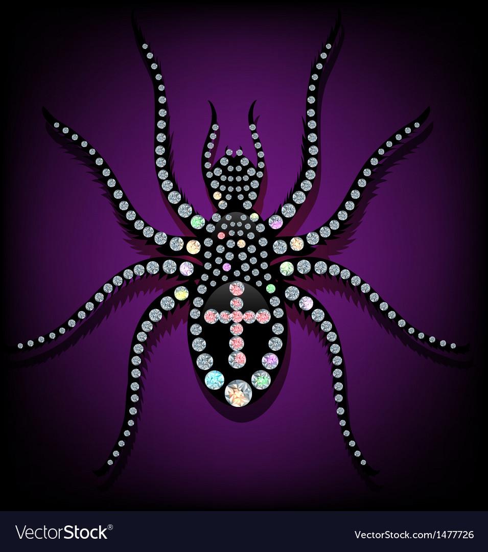 Brilliant spider vector image
