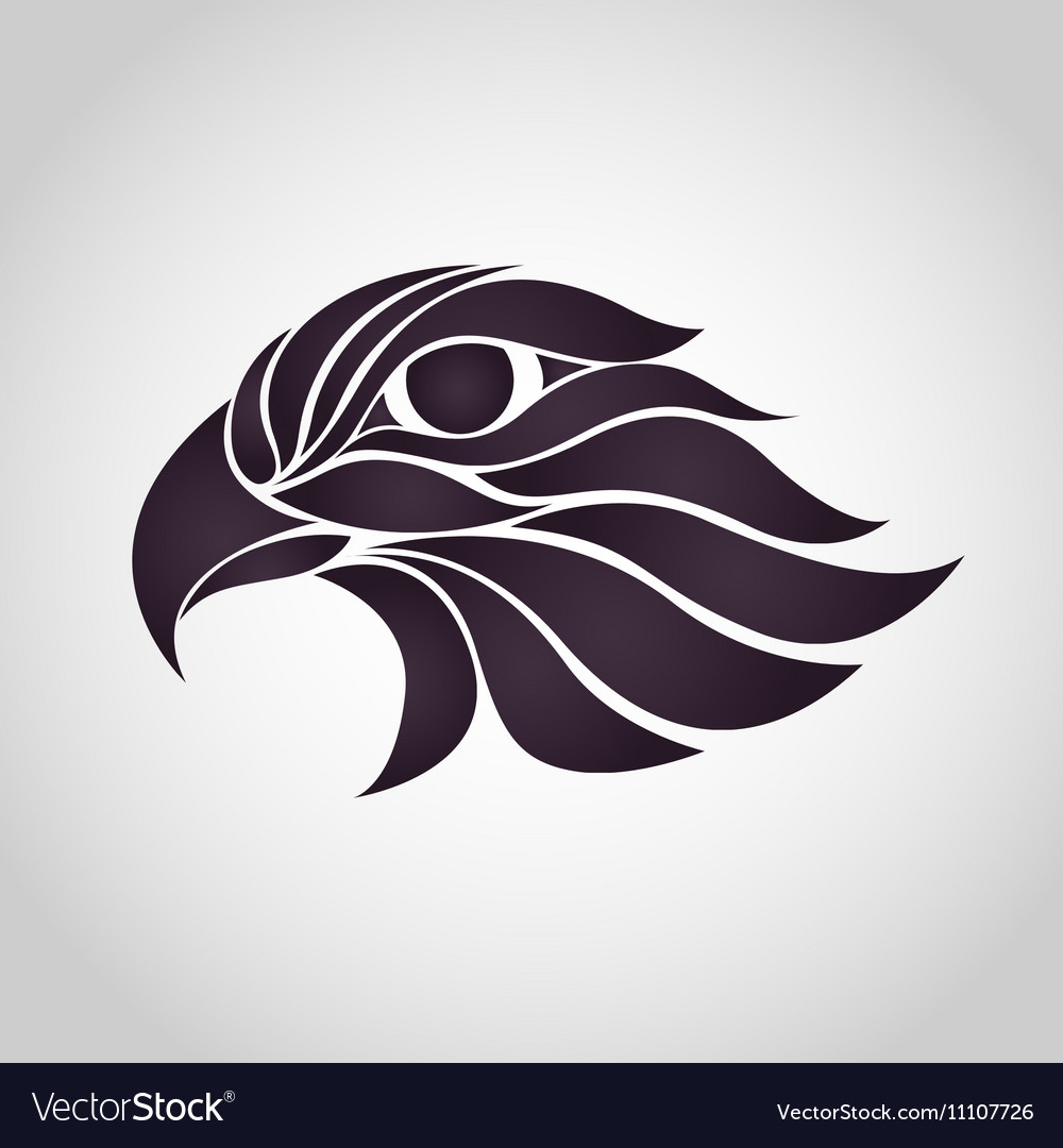 Abstract Hawk Logo vector image