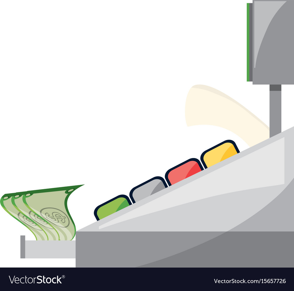 Cash register machine royalty free vector image cash register machine vector image pooptronica