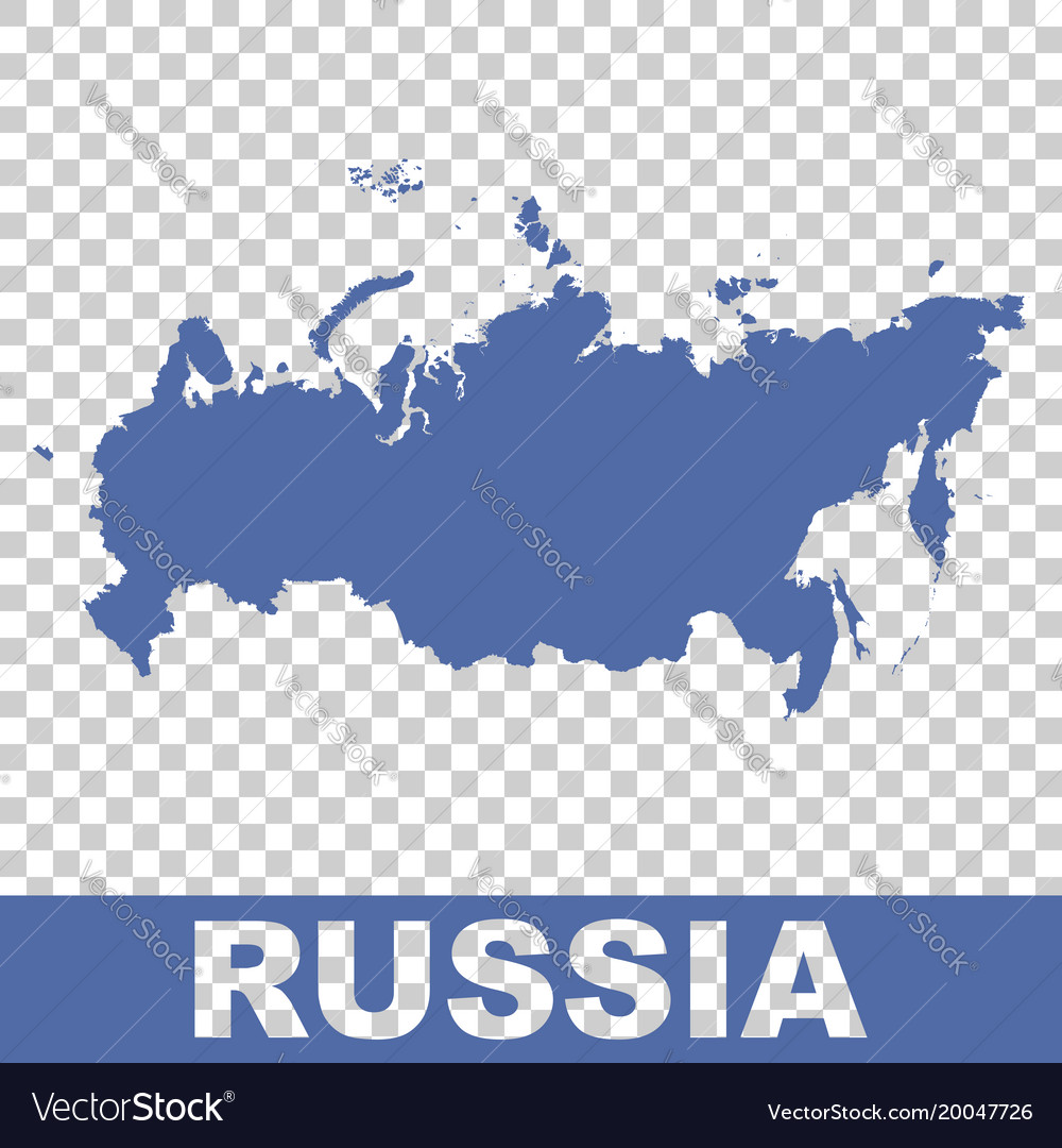 Russia map flat vector image