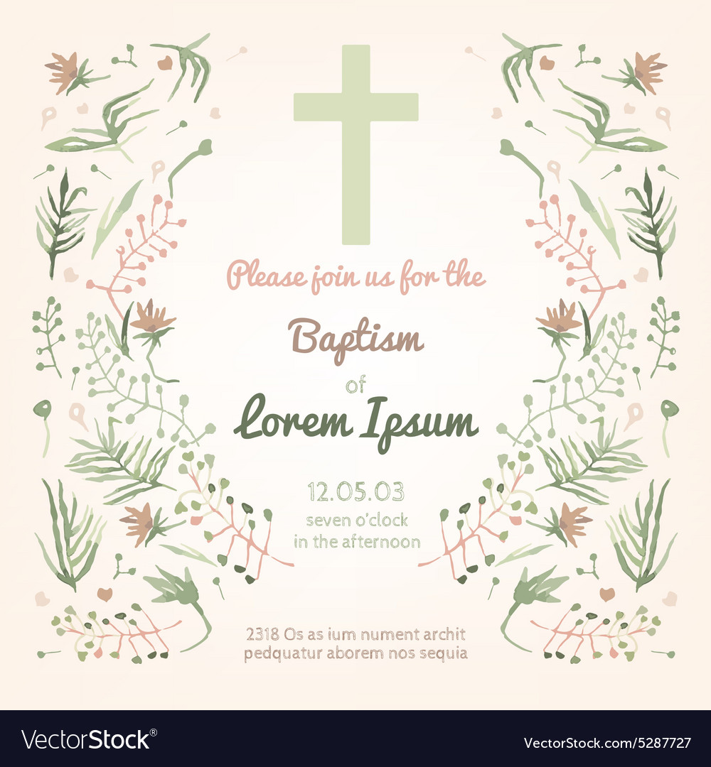 Baptism invitation card royalty free vector image baptism invitation card vector image stopboris Images