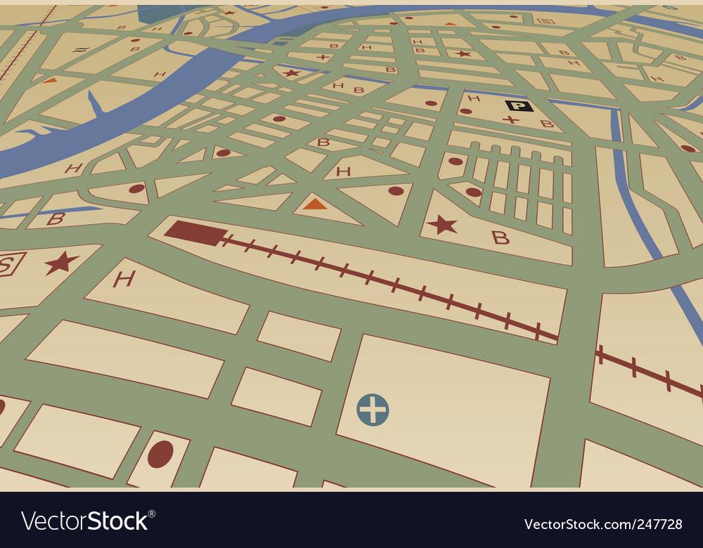 Street map vector image