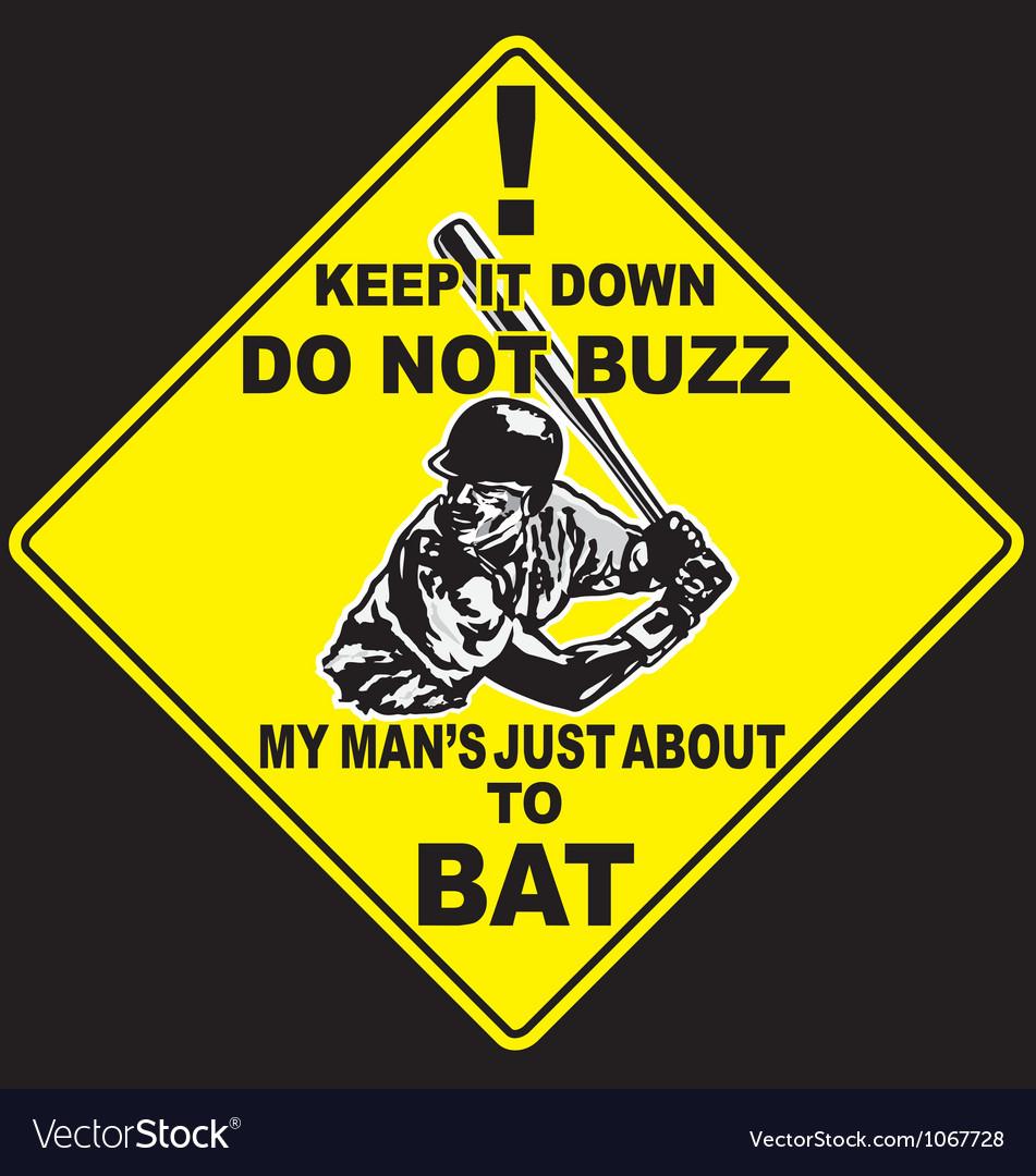 Baseball caution to bat vector image