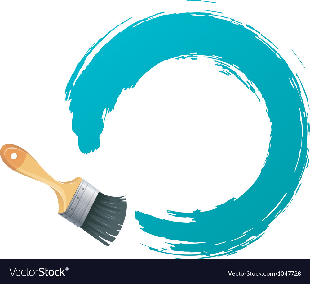 Brush backgr vector image