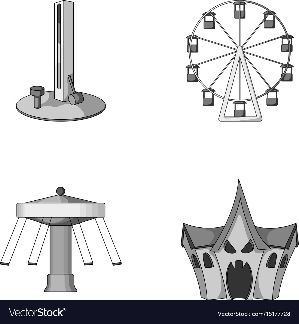 The device with a bat for measuring strength a vector image