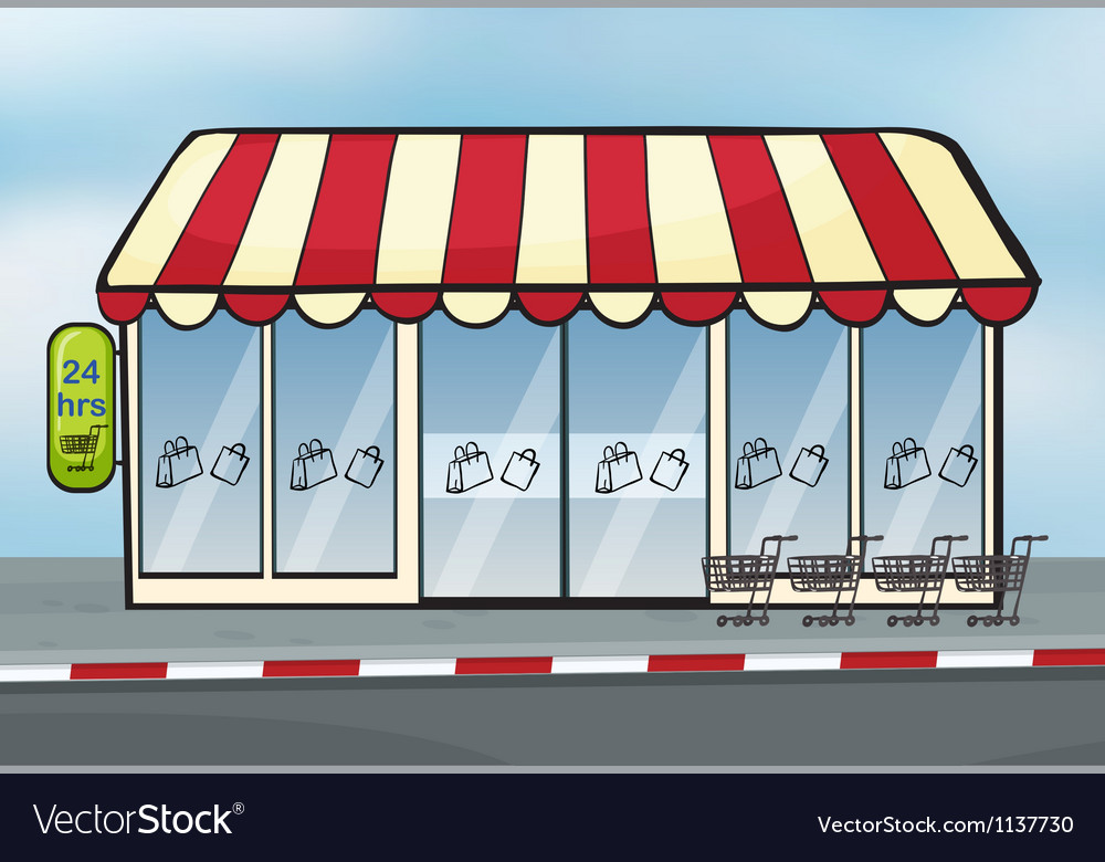 A store vector image