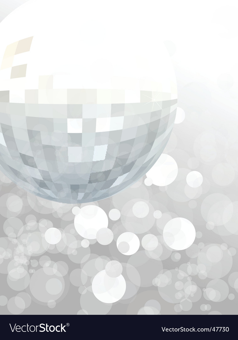 Mirror ball party background vector image