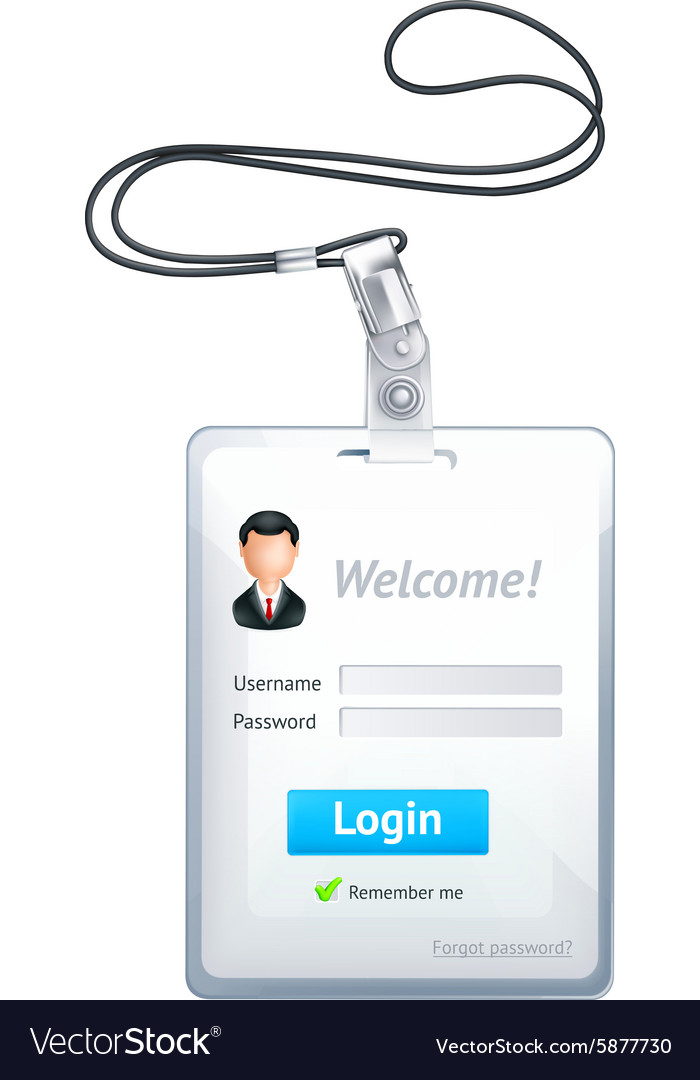 Log in form vertical vector image