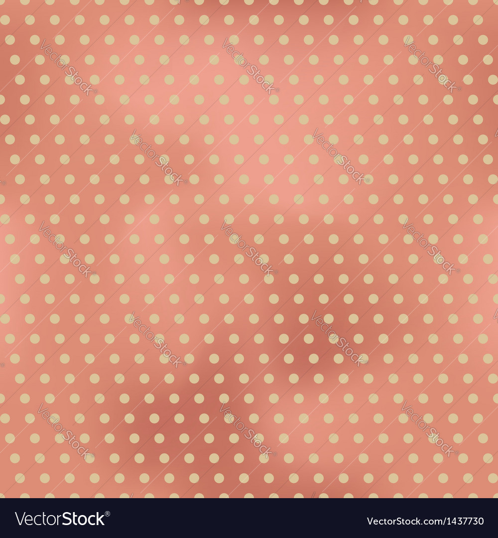 Vintage seamless background with polka dots vector image