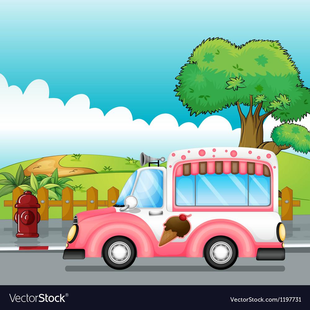 An icecream truck Vector Image