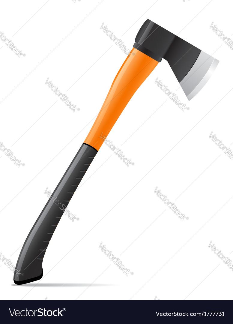 Tool axe 01 vector image