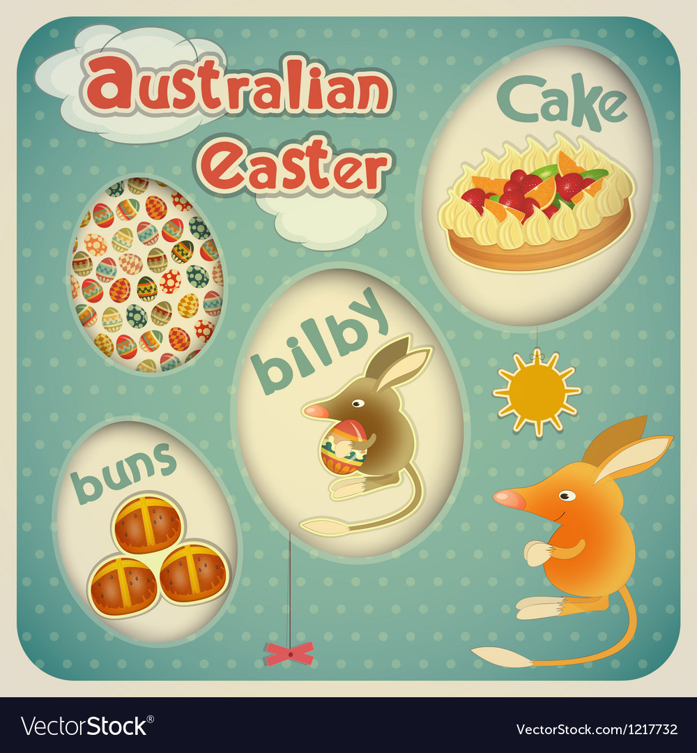 Easter Australian Card vector image