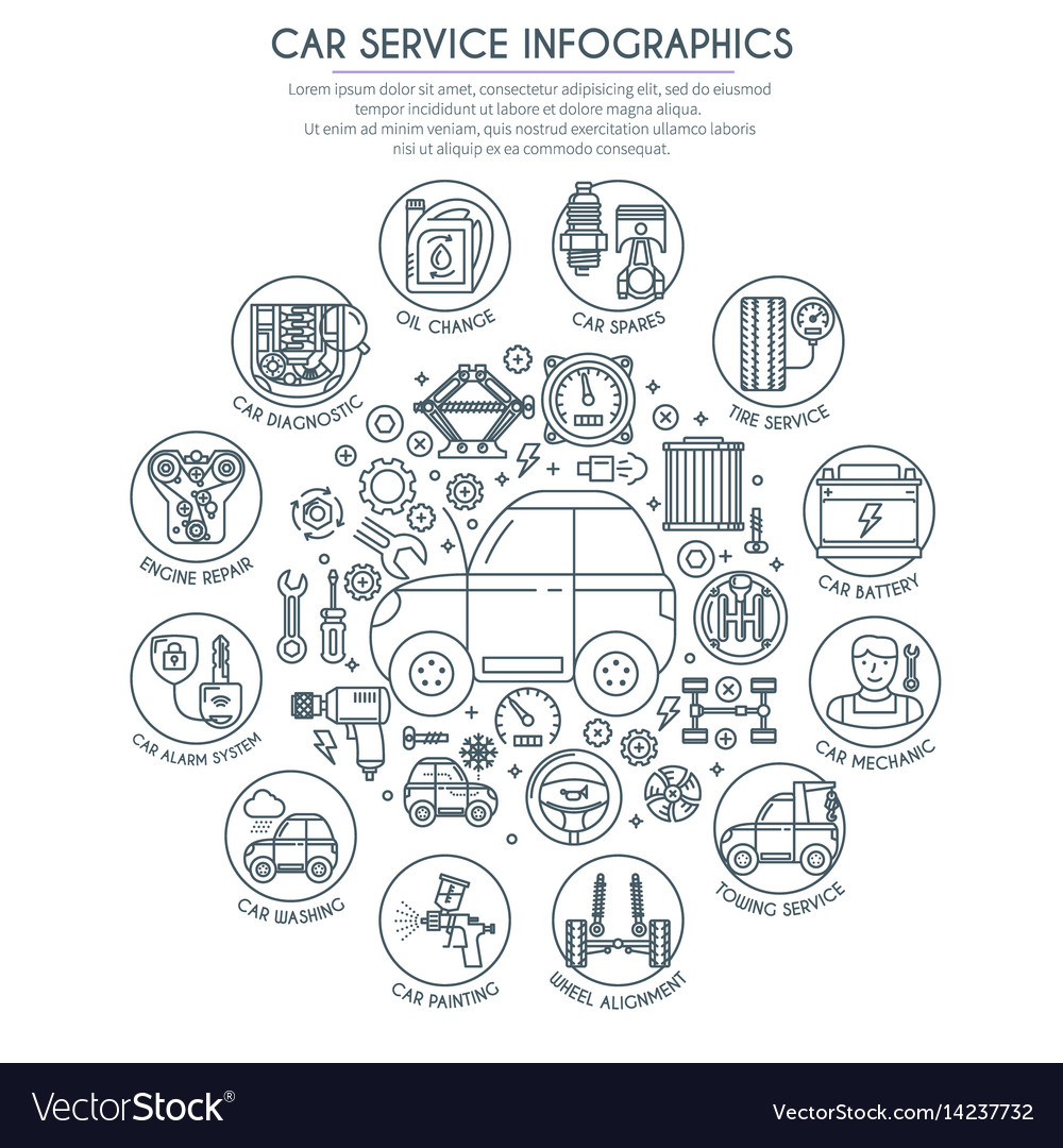 Car service infographics 2 vector image