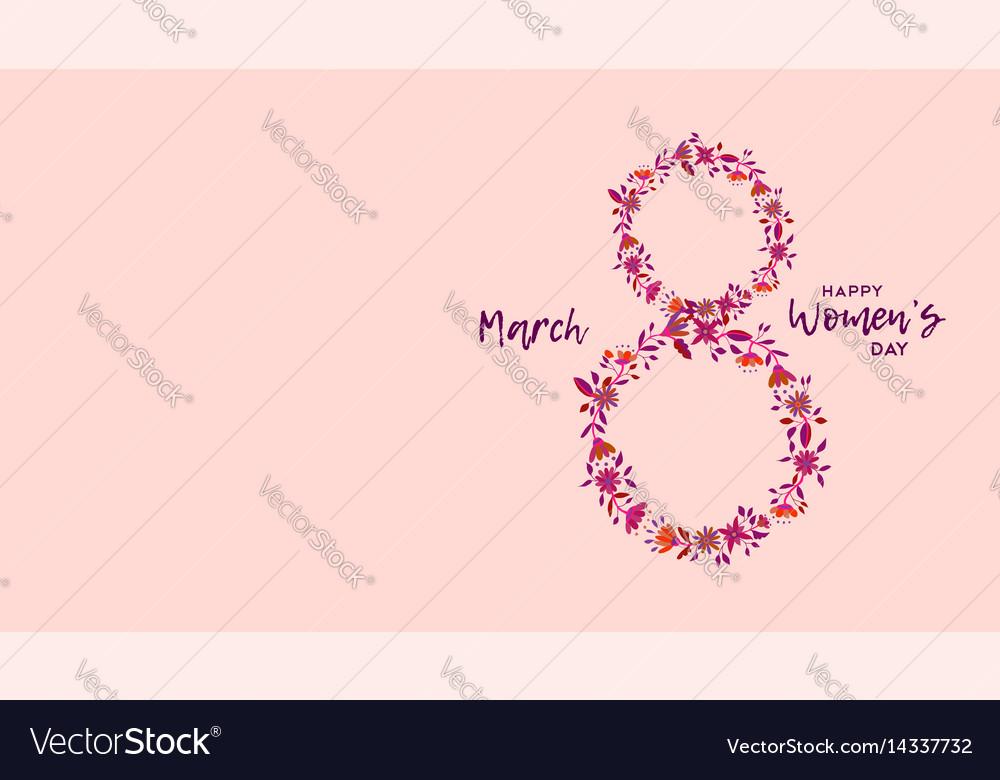 Happy womens day celebration flower design vector image