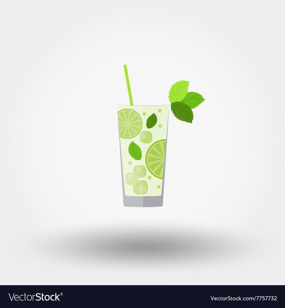 Mojito Cocktail icon vector image