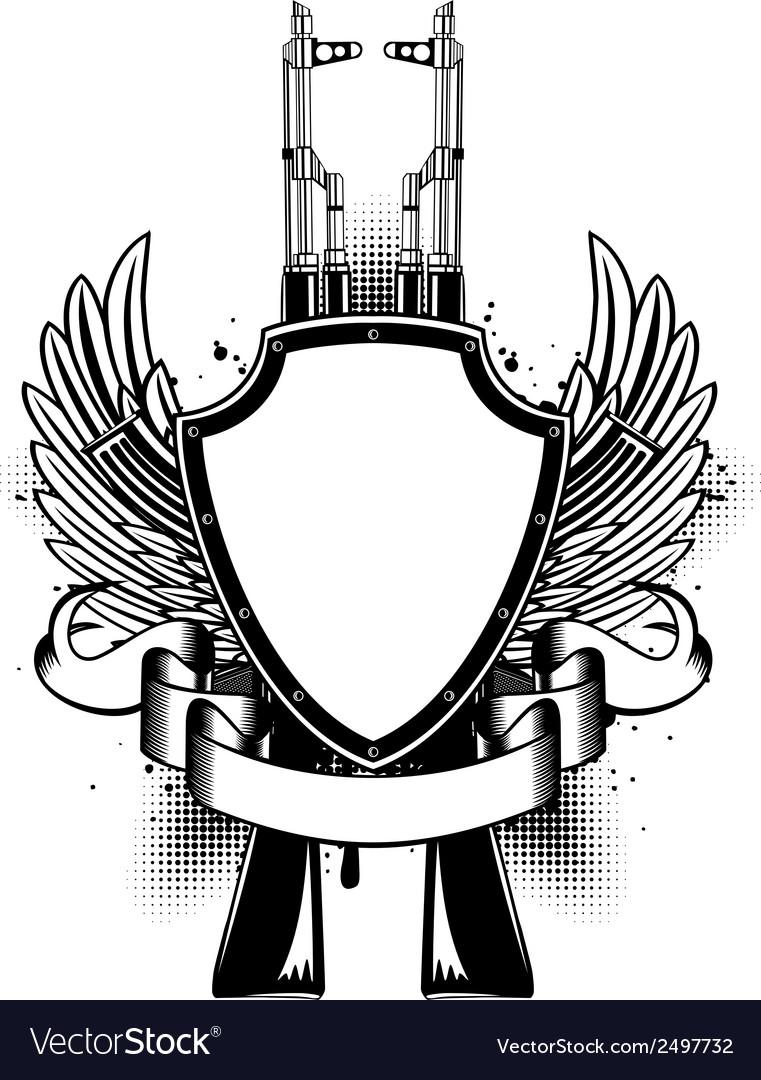 Two Kalashnikov vector image