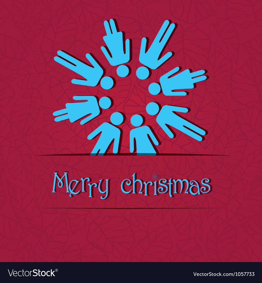 People snowflake vector image