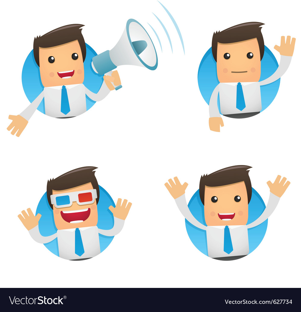 Cartoon manager vector image