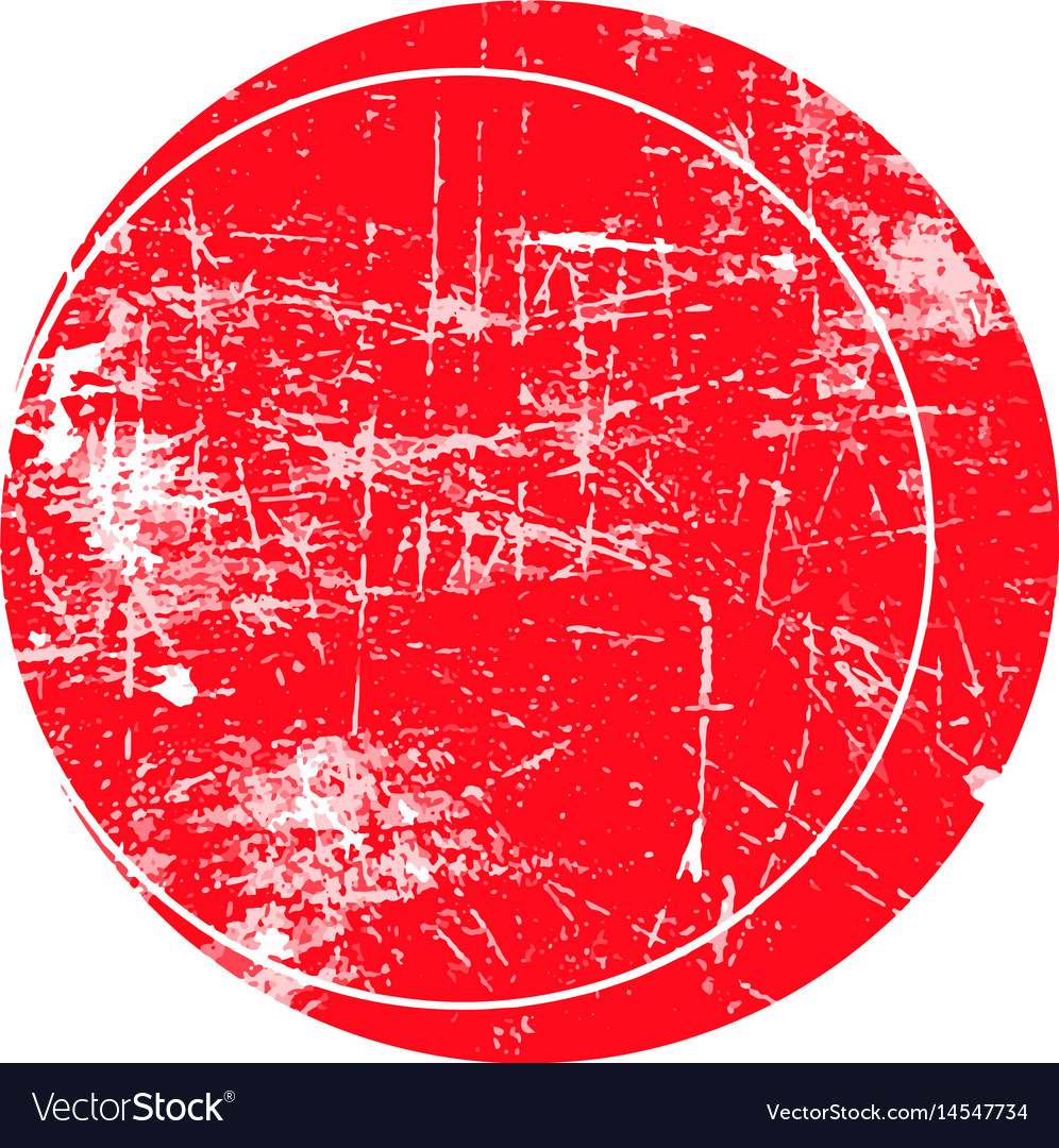 Red circle grunge stamp vector image