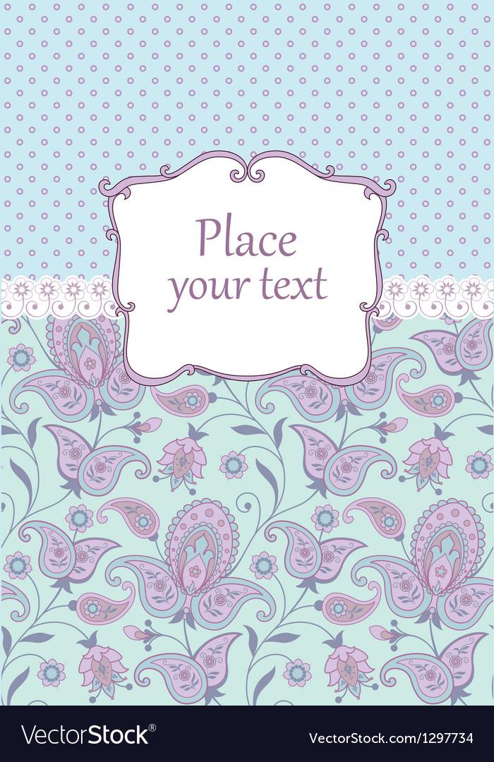 Scrapbook vintage background vector image