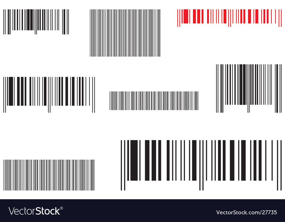 Samples selling barcode Vector Image
