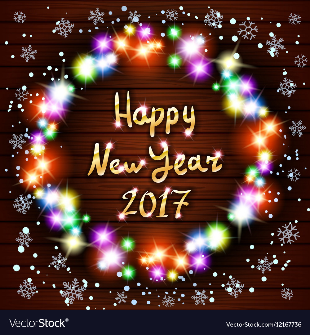 Happy new year greeting card with best wishes vector image kristyandbryce Choice Image