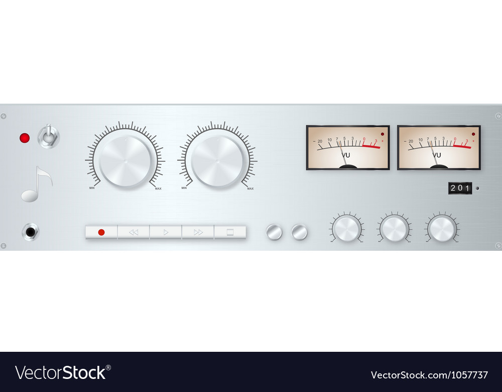 Analog audio device panel vector image