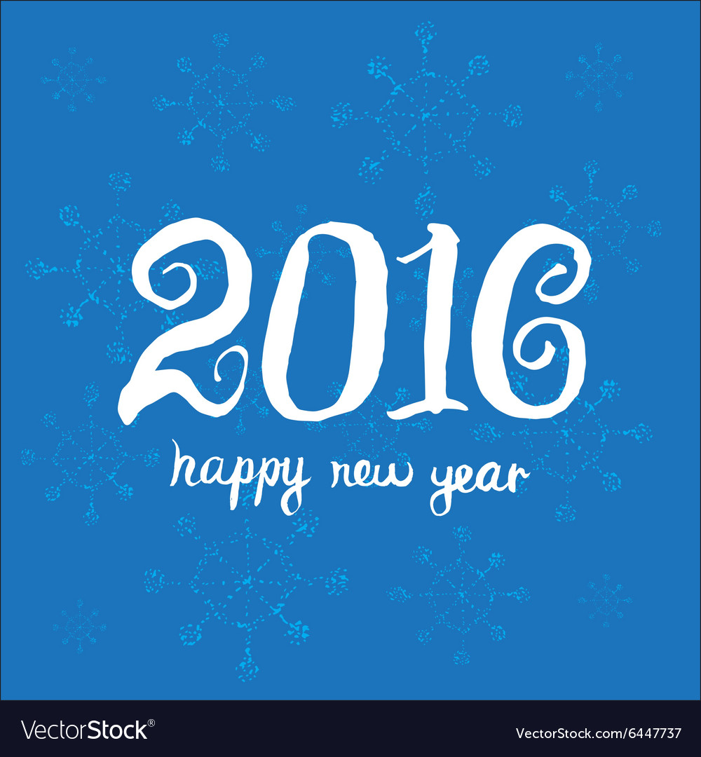 Creative greeting card design template Happy new vector image