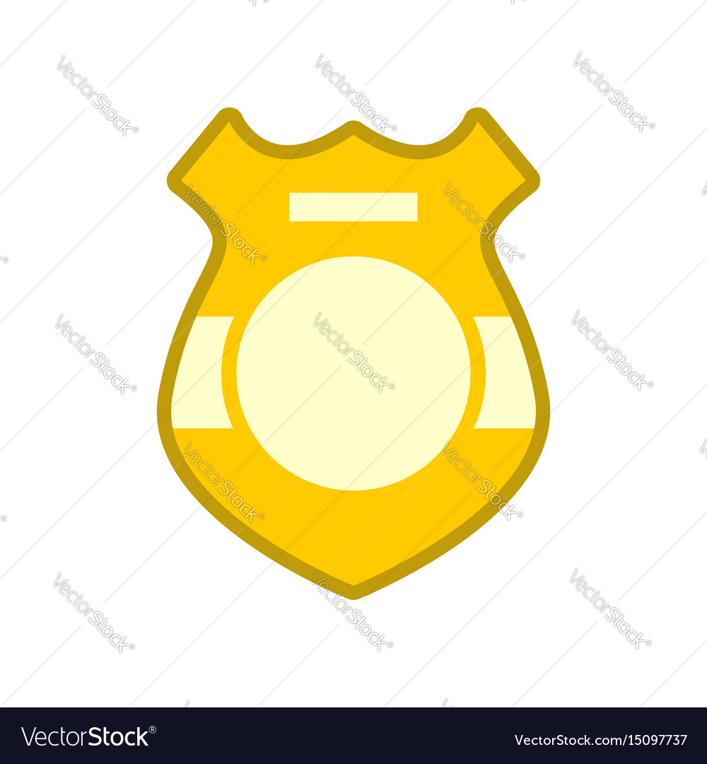Police badge isolated sign of policeman officer vector image
