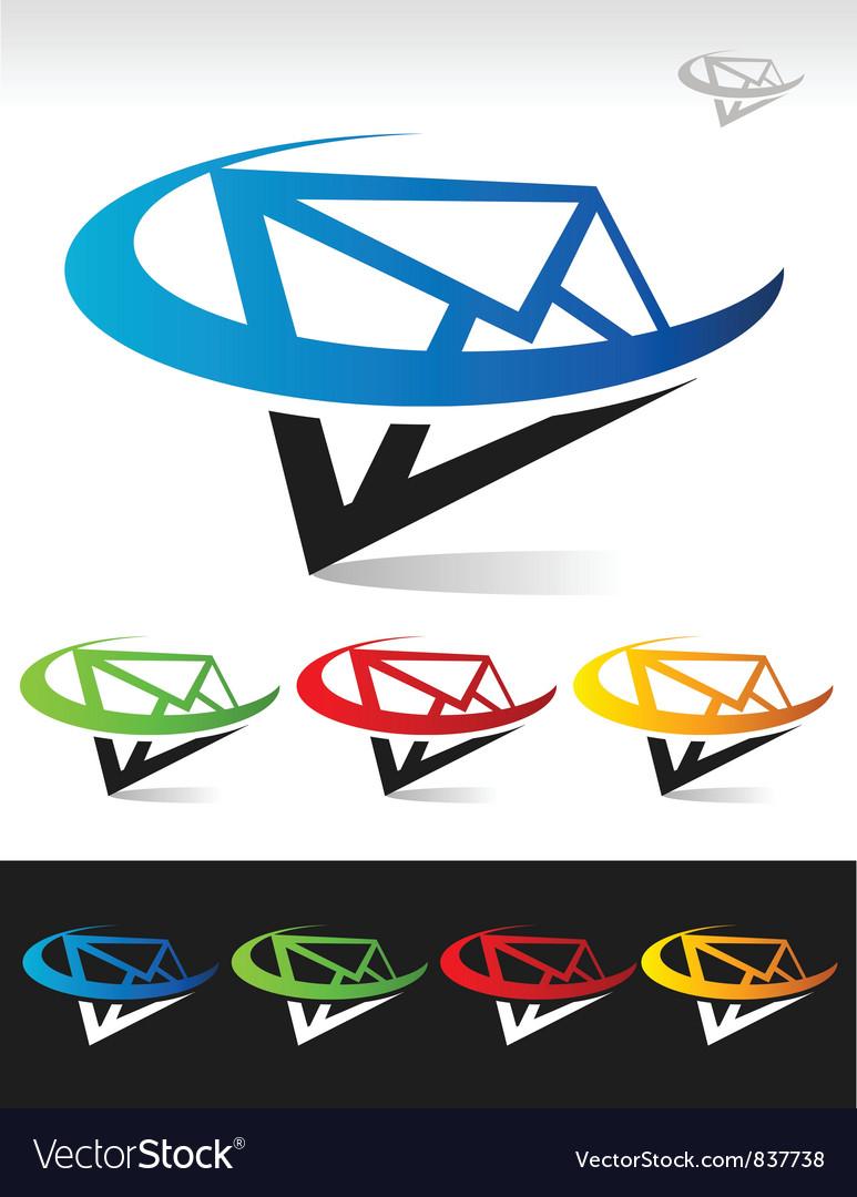 Swoosh Mail Logo Icon vector image