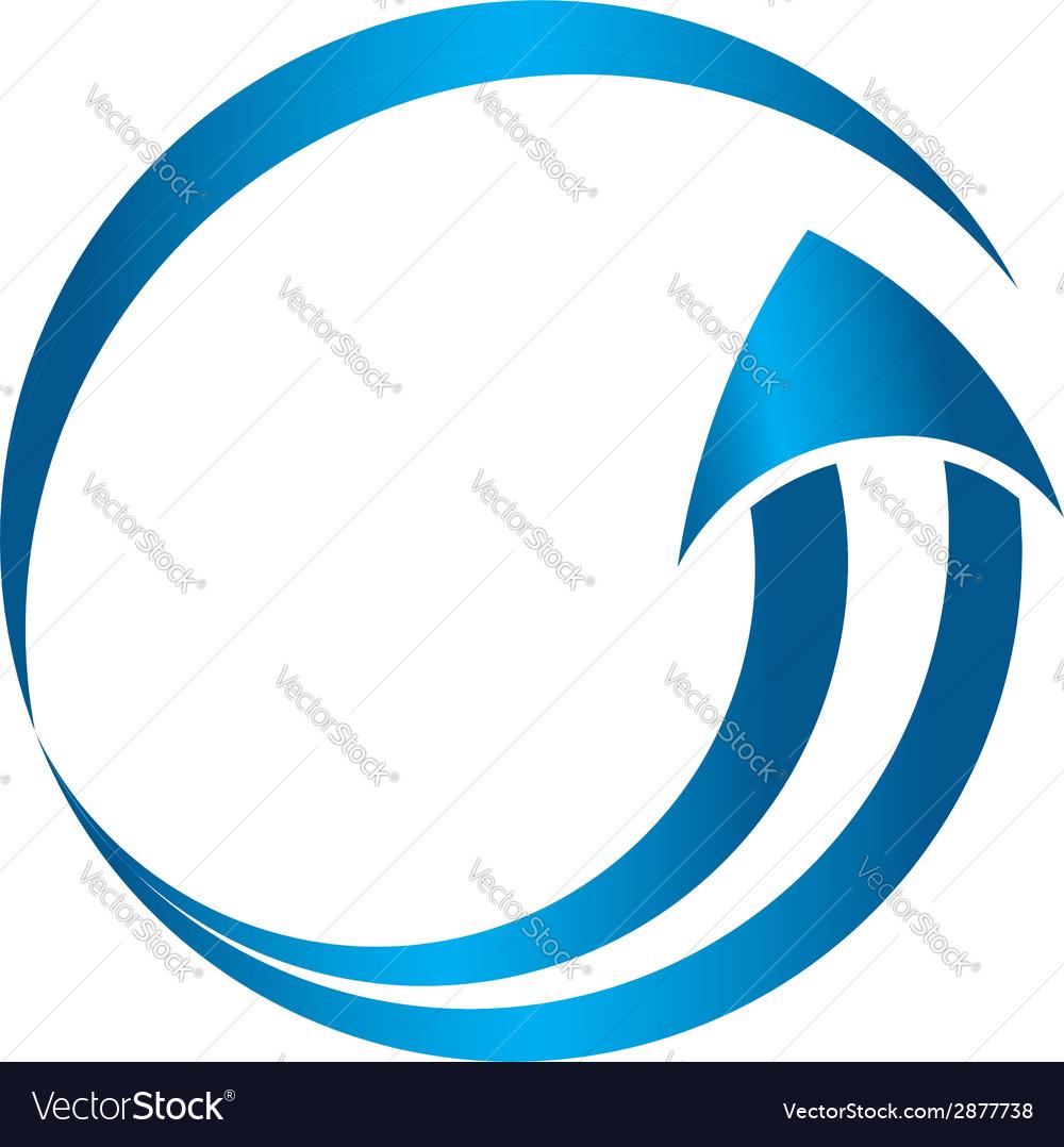 Circle arrow image vector image