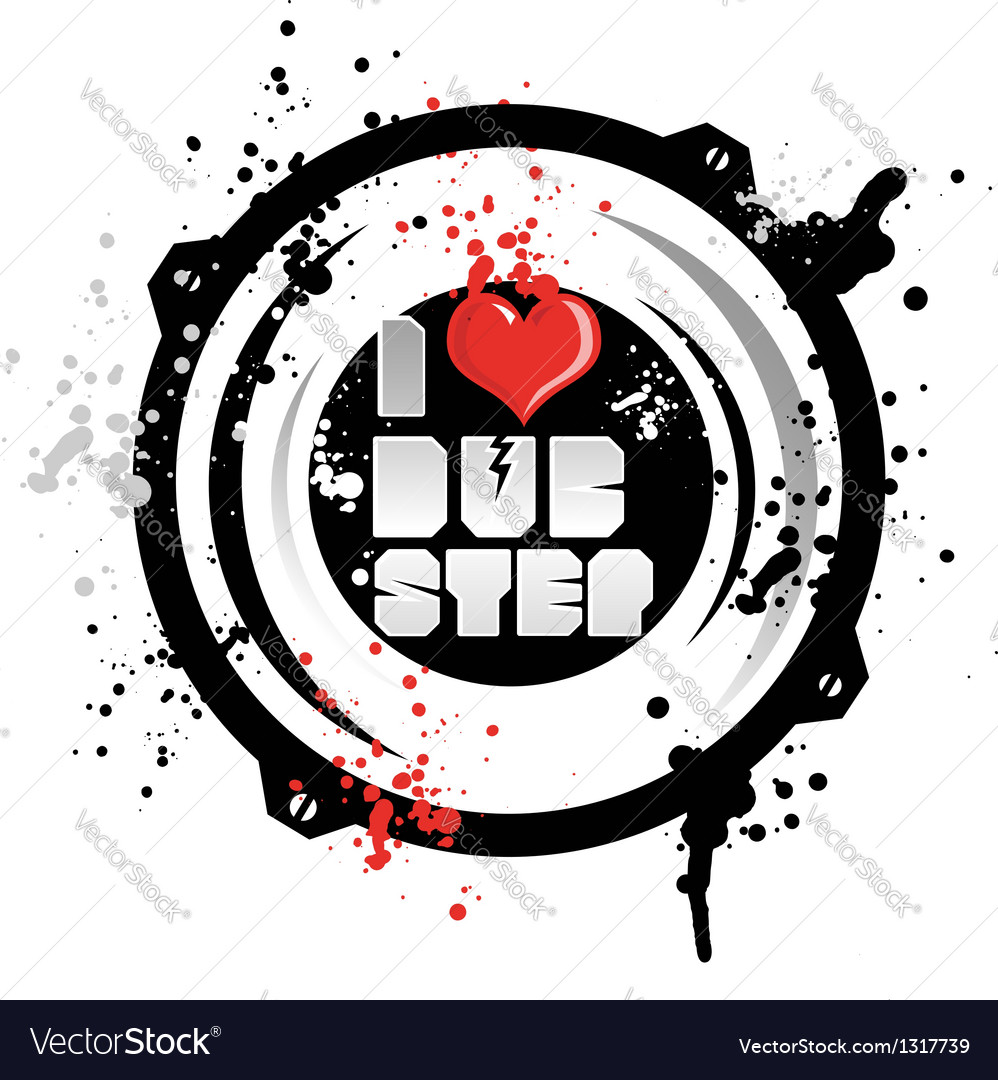 I love dub step vector image