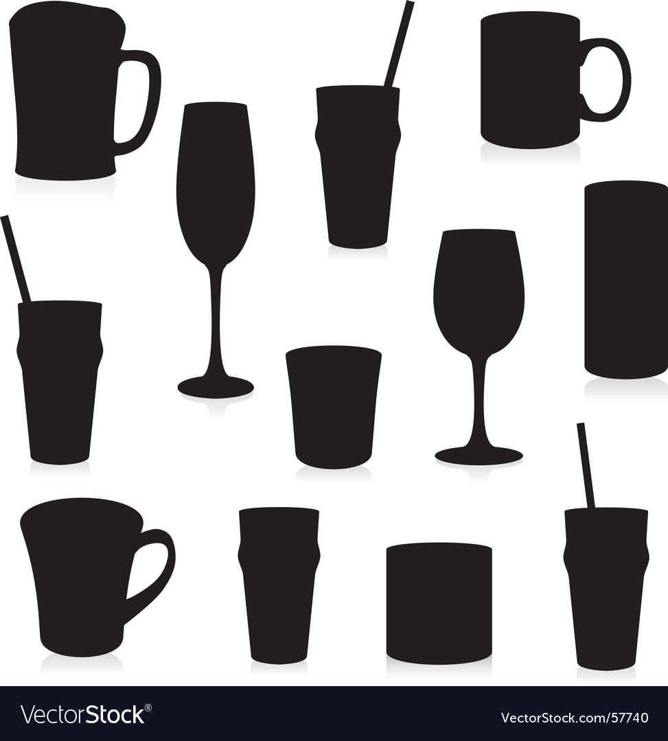 Glasses silhouettes Vector Image