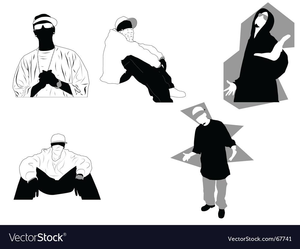 Gangsta vector image
