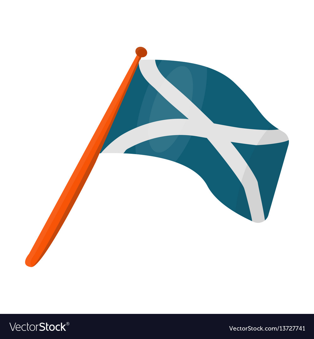 Scotland flag on a wooden stickthe scottish vector image biocorpaavc Choice Image