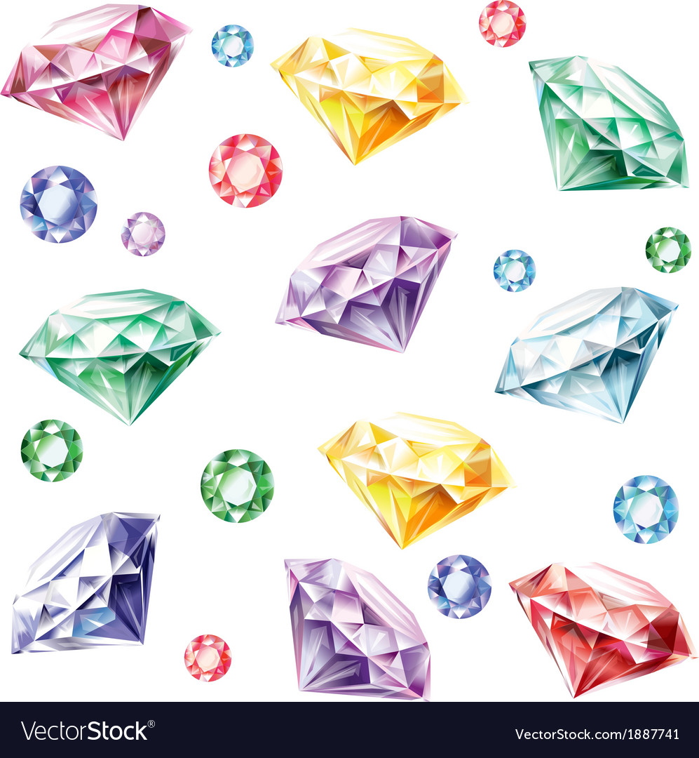 Seamless pattern from diamonds vector image