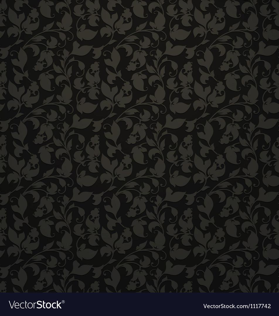 Seamless pattern black vector image