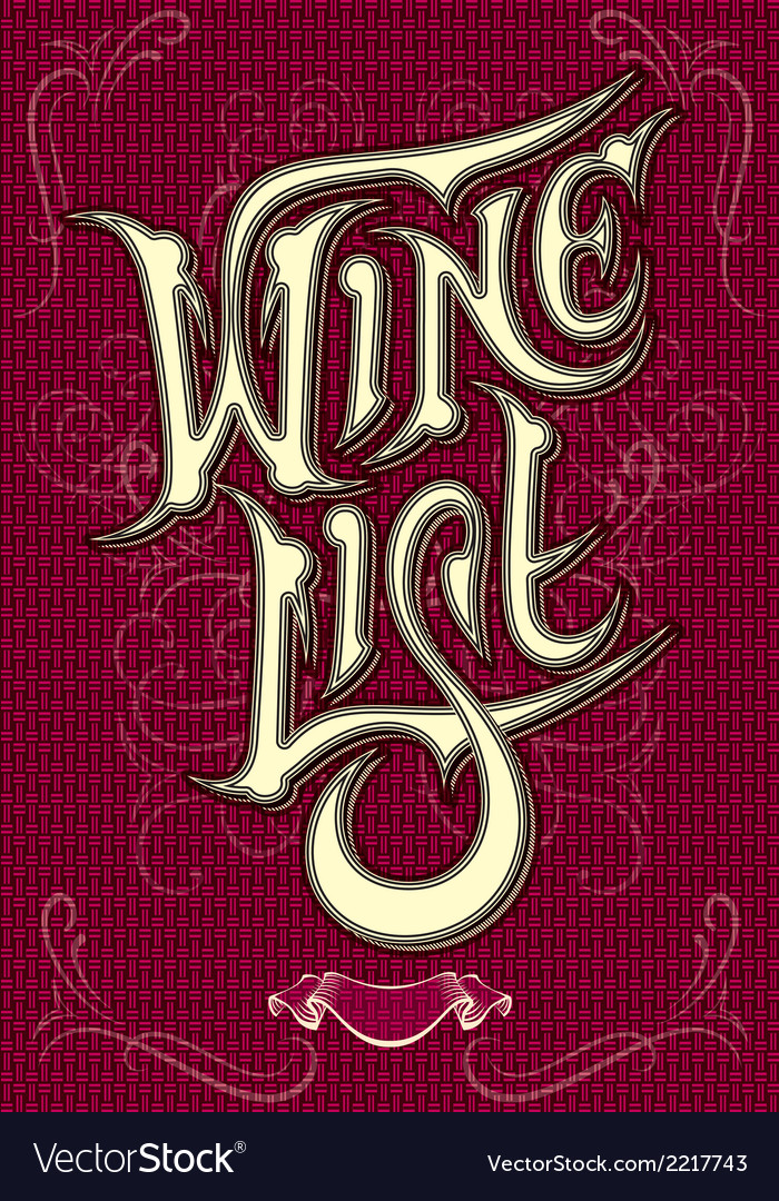 Background with inscription wine vector image