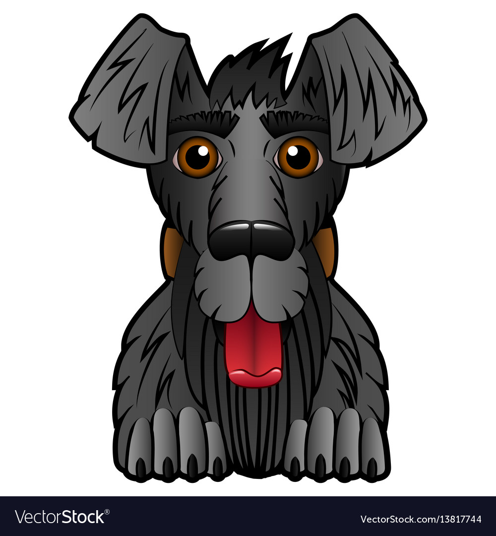 Cartoon dog on a white background vector image